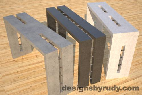 Concrete Console Table, Designs by Rudy
