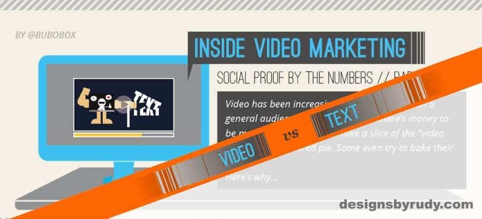 Dominance of Video versus Text Infographic
