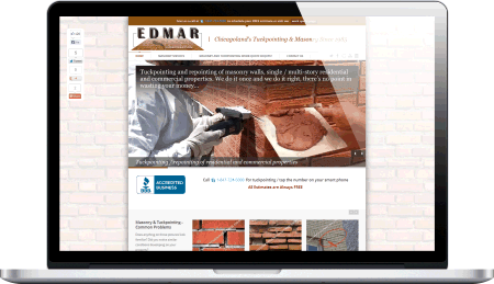 Edmar Corporation Website Design by Designs by Rudy