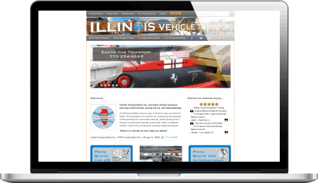 Transportation company website design by 108.167.189.34