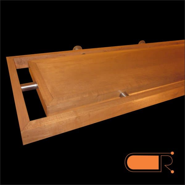 fireplace mantel shelf made from maple wood and stainless. Black Bedroom Furniture Sets. Home Design Ideas