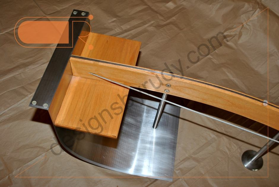 Jelly Bean Coffee Table Glass Top Stainless Steel And