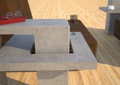 Concrete End Table | DR2 Contemporary Concrete Coffee Table Series