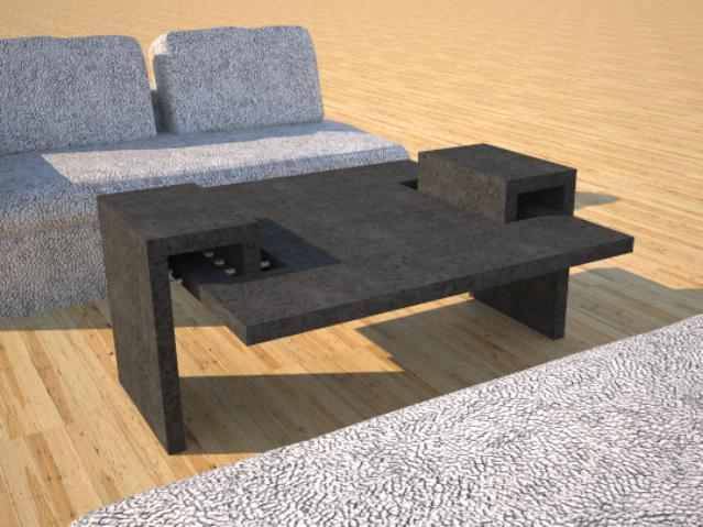 Concrete Furniture | DR6 Double Link | Concrete Coffee Table Series