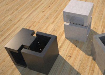 Concrete Side Table | DR1 Contemporary Concrete Coffee Table Series