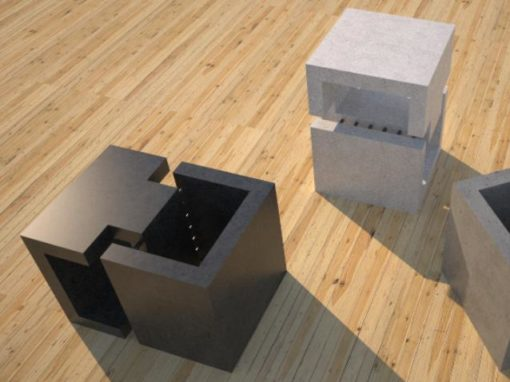 Concrete Side Table | DR1 Contemporary Concrete Coffee Table Series