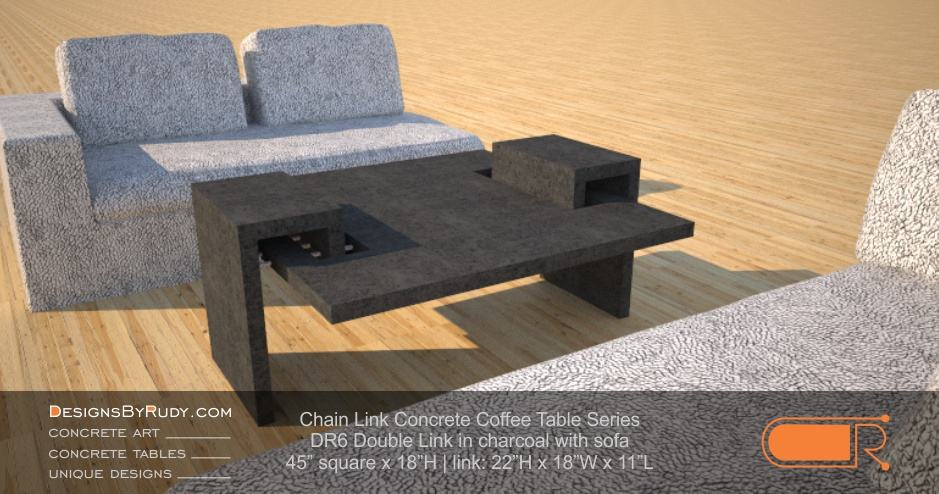 Concrete furniture dr double link coffee