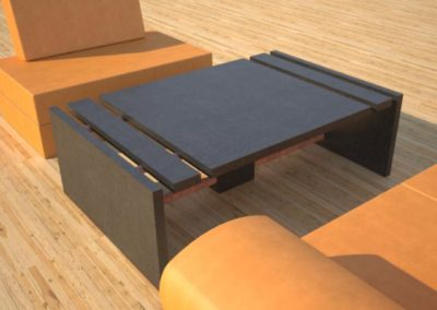 Concrete Coffee Table Sectional Series | DR51 Simple 3 Slab