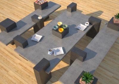 Outdoor Concrete Benches | Concrete Patio Tables