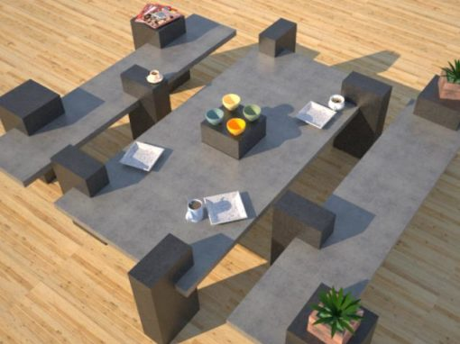 Outdoor Concrete Benches | Concrete Patio Tables