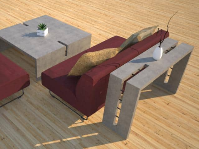 Concrete Console Table, Indoor  and Outdoor Cement Tables