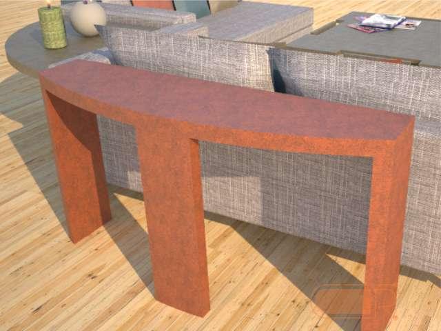 Demilune Concrete Console Table Series