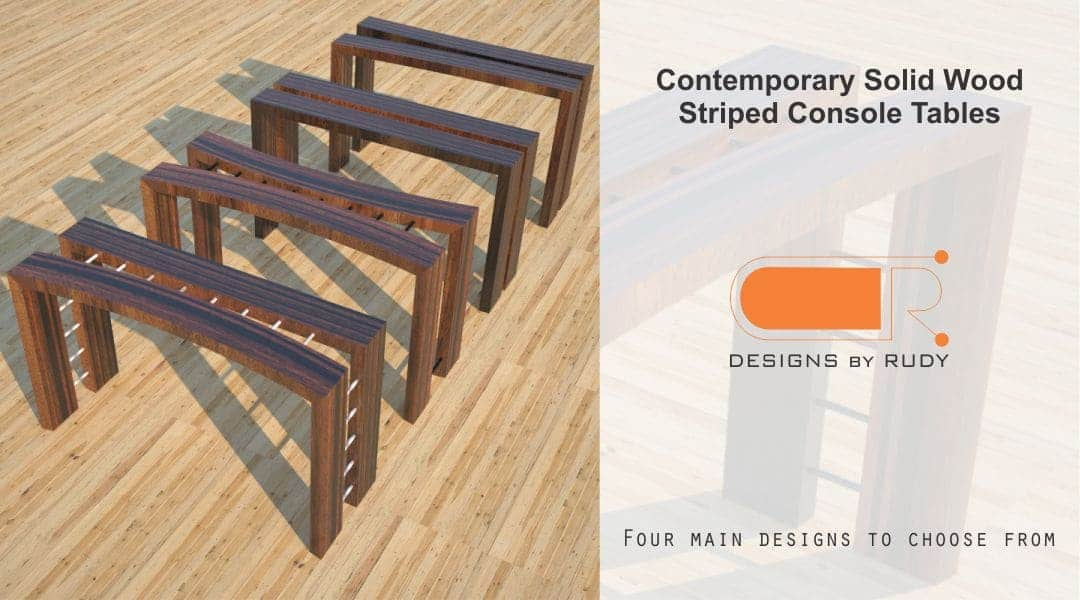 Contemporary Solid Wood Striped Console Tables 4 Designs to Choose From