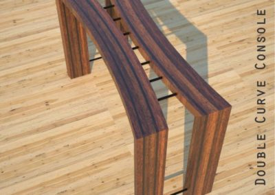 Double Curve Console Table