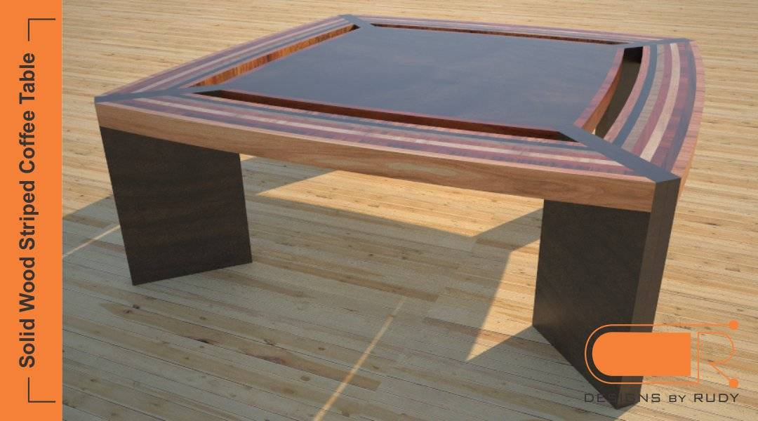 ... Unique Coffee Table, Solid Wood Striped Design, Custom Furniture By  Designs By Rudy ...