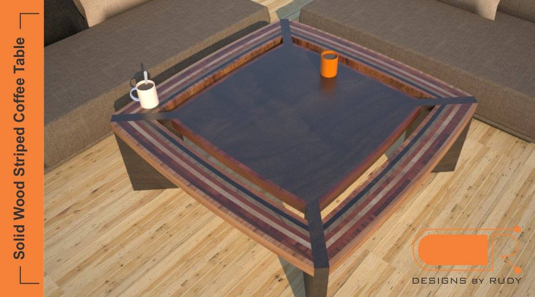 wood coffee table striped modern design unique custom furniture by designs by rudy