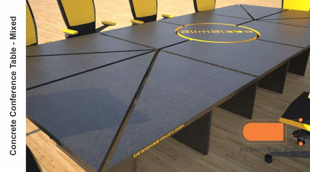 Concrete Conference table, mixed design by Designs by Rudy 1