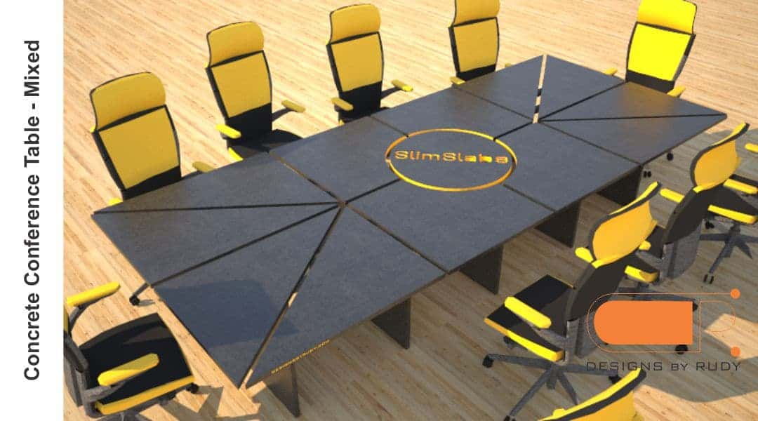 Concrete Conference table, mixed design by Designs by Rudy 2