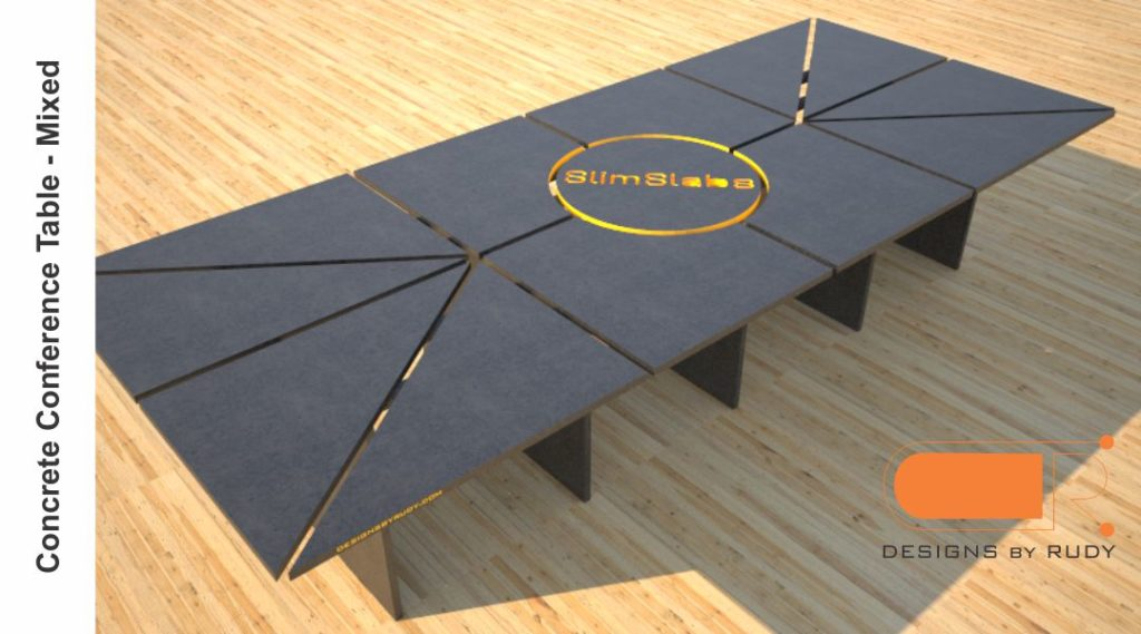 Concrete Conference table, mixed design by Designs by Rudy 4
