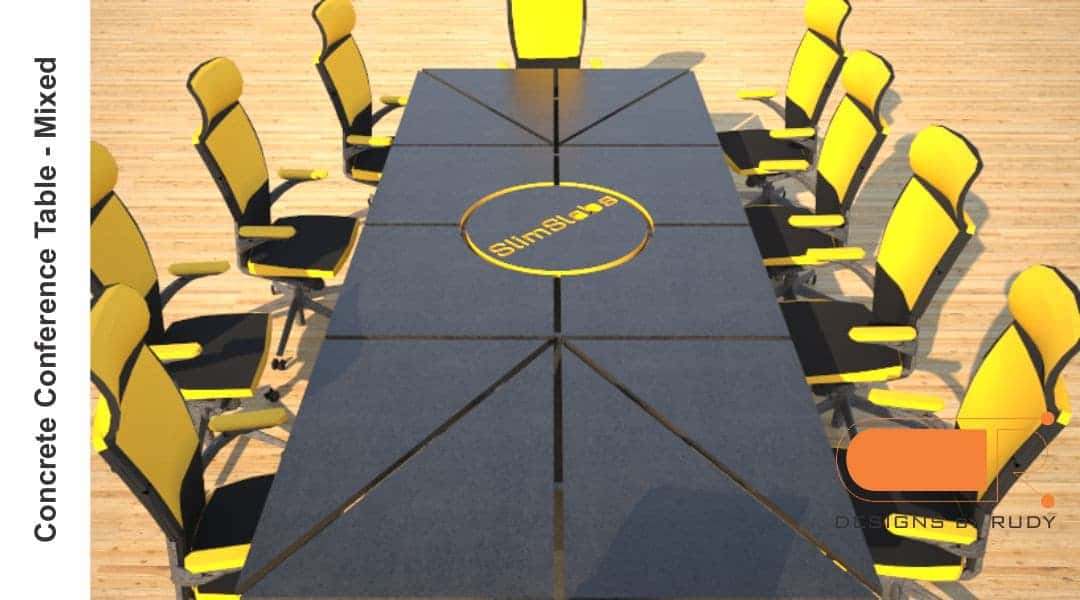 Concrete Conference table, mixed design by Designs by Rudy 5