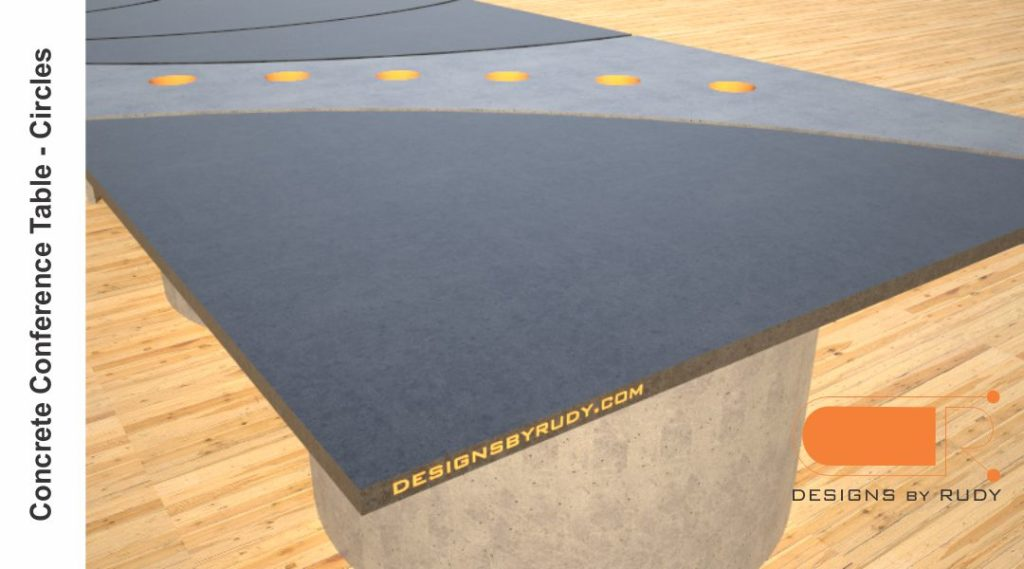 Concrete conference table, circles design by Designs by Rudy 6