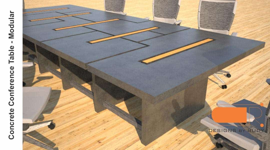 Concrete Conference Table Modular Design By Designs By Rudy 1 Concrete Furniture Design
