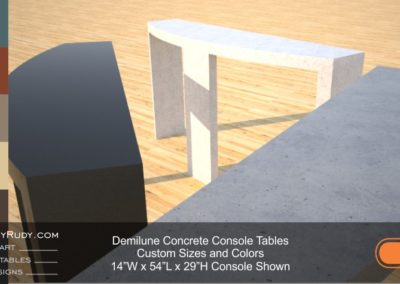 Demilune concrete console table Designs by Rudy 9