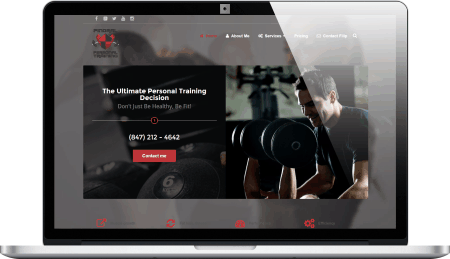 Personal Training Responsive Website Design