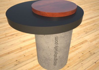 Concrete SideTable, round base and circular top, Desings by Rudy