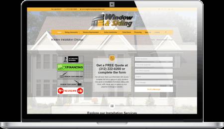 Window Contractor Responsive Web Design Vernon Hills