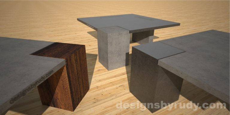 3 Concrete coffee tables - Designs By Rudy
