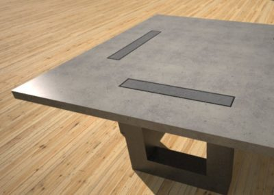 Concrete Coffee Table with Square Wood or Concrete Legs