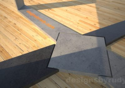 Concrete Coffee Table with X Shaped Base and glass top Designs by Rudy (7)