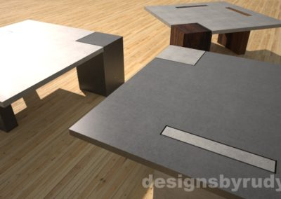 Concrete coffee tables - Designs By Rudy