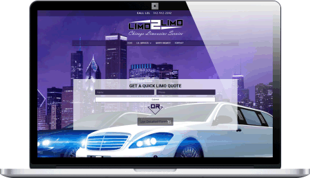 Limousine service website design
