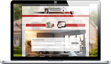 WatchYourHouseKey Real Estate responsive website design