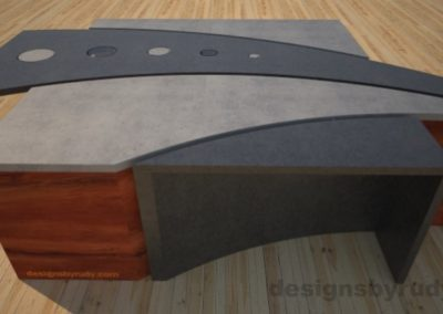 12 Concrete coffee table geometric series CIRCLES, Desings by Rudy