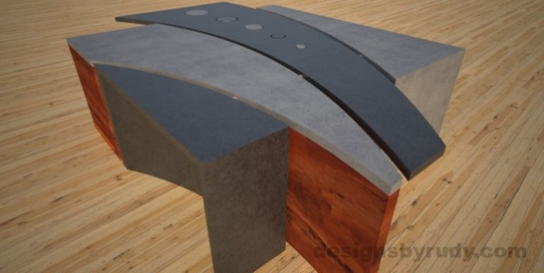 13 Concrete coffee table geometric series CIRCLES, Desings by Rudy