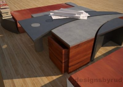 15 Concrete coffee table geometric series CIRCLES, Desings by Rudy