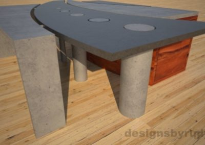 5 Concrete coffee table geometric series CIRCLES, Desings by Rudy