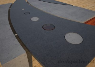 6 Concrete coffee table geometric series CIRCLES, Desings by Rudy