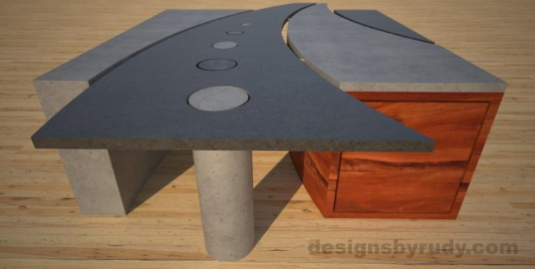 7 Concrete coffee table geometric series CIRCLES, Desings by Rudy