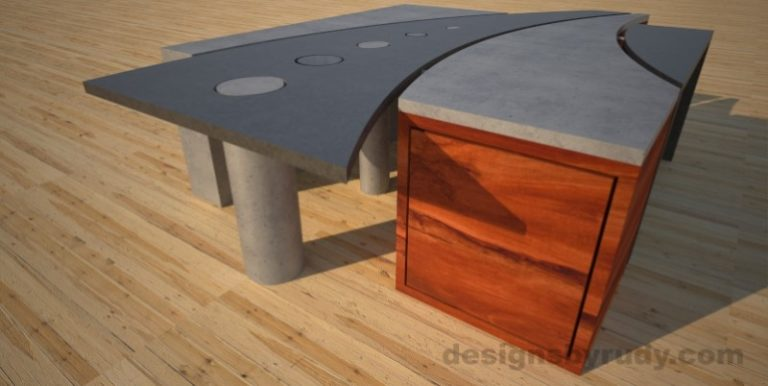 9 Concrete coffee table geometric series CIRCLES, Desings by Rudy