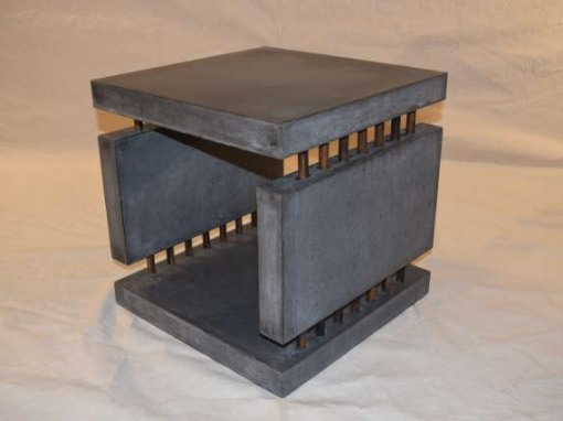 Concrete Side Table 4 Slabs Linked DR0