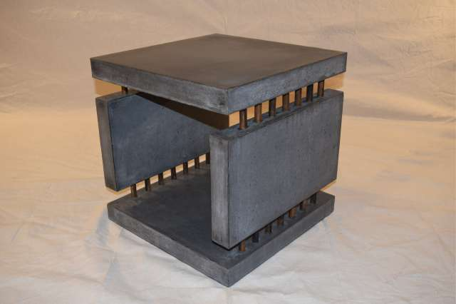 Charcoal Concrete Side Table DR0 thumb