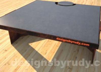 Concrete Coffee Table and Steel charcoal - corten, DR30 Clean Cut
