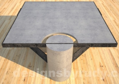 Steel and Concrete Coffee Table CLEAN CUT DR30 by Designs by Rudy