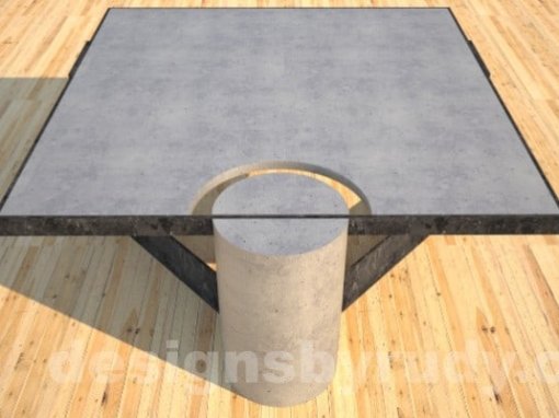 Steel and Concrete Coffee Table CLEAN CUT DR30