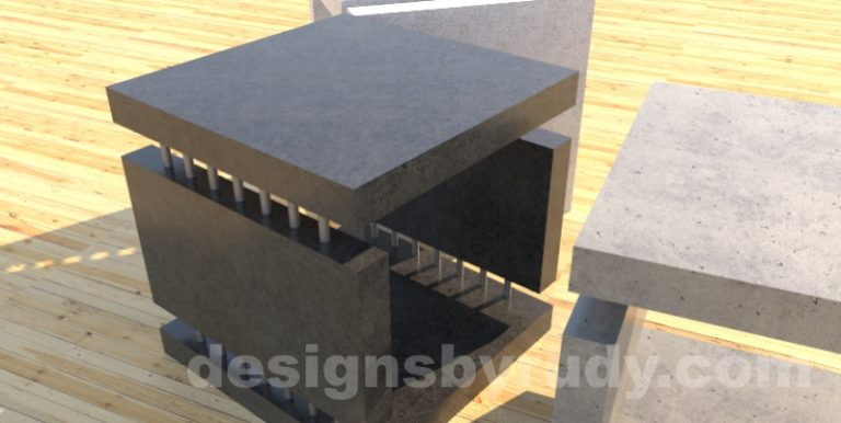 Concrete Side Table in charcoal by Designs by Rudy DR0