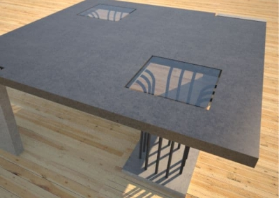 Concrete Coffee Table Elevator Legs DR27 by Designs by Rudy